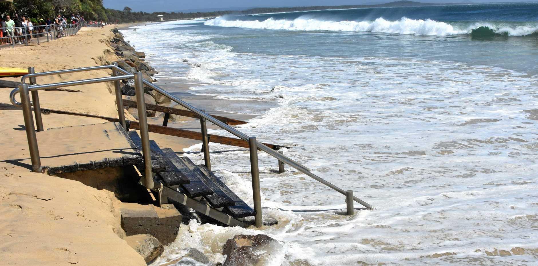 GONE: An eroded Noosa Main Beach.