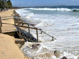 Noosa shoreline falls victim to Oma swell