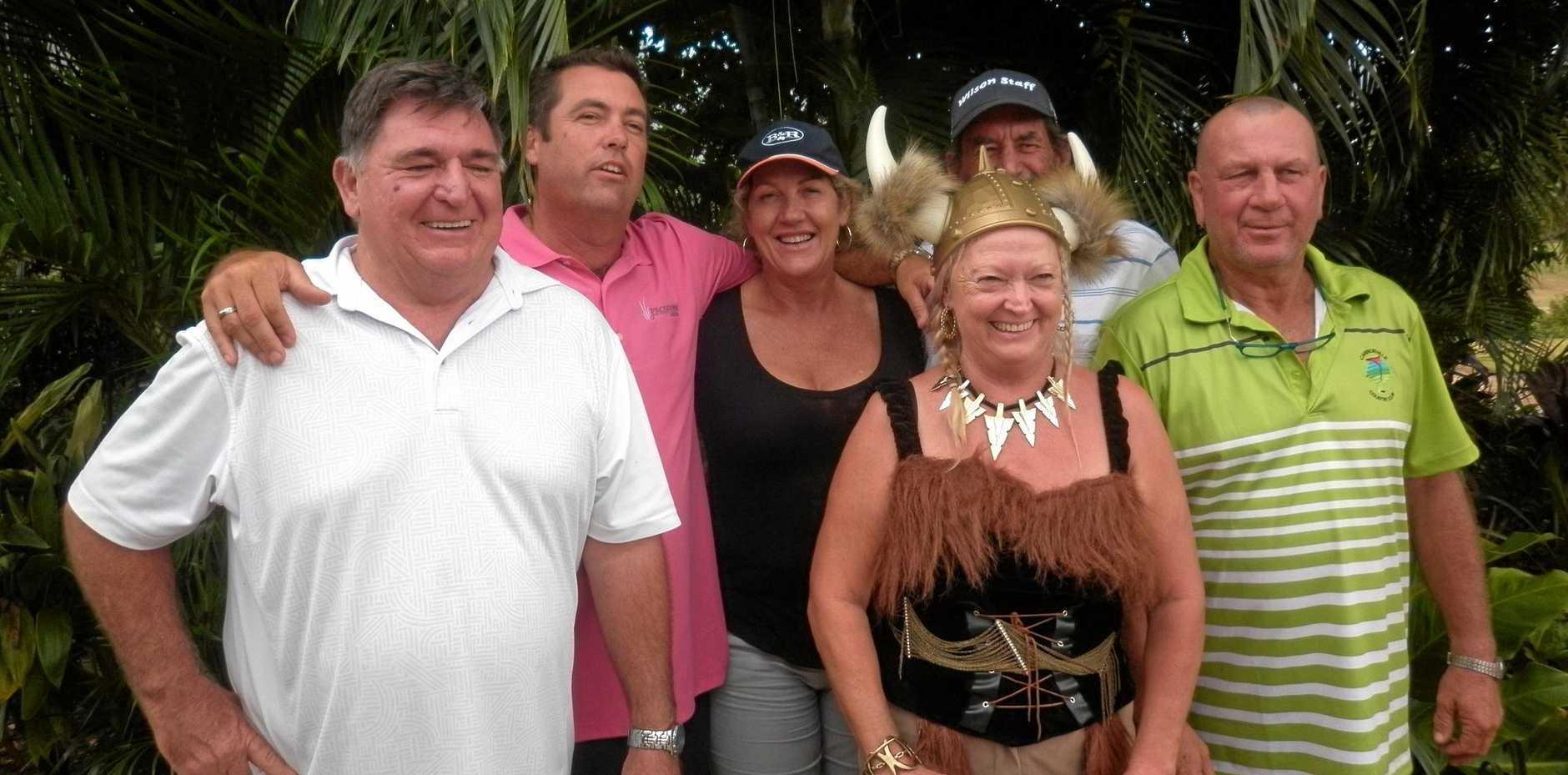 SUCCESS: Paul Nicol, Roger Vandenberg, Penny Wardroper, Joanne Moynihan, Marl McDougall, Scotty Wardroper had a good time at Whitsunday Golf.