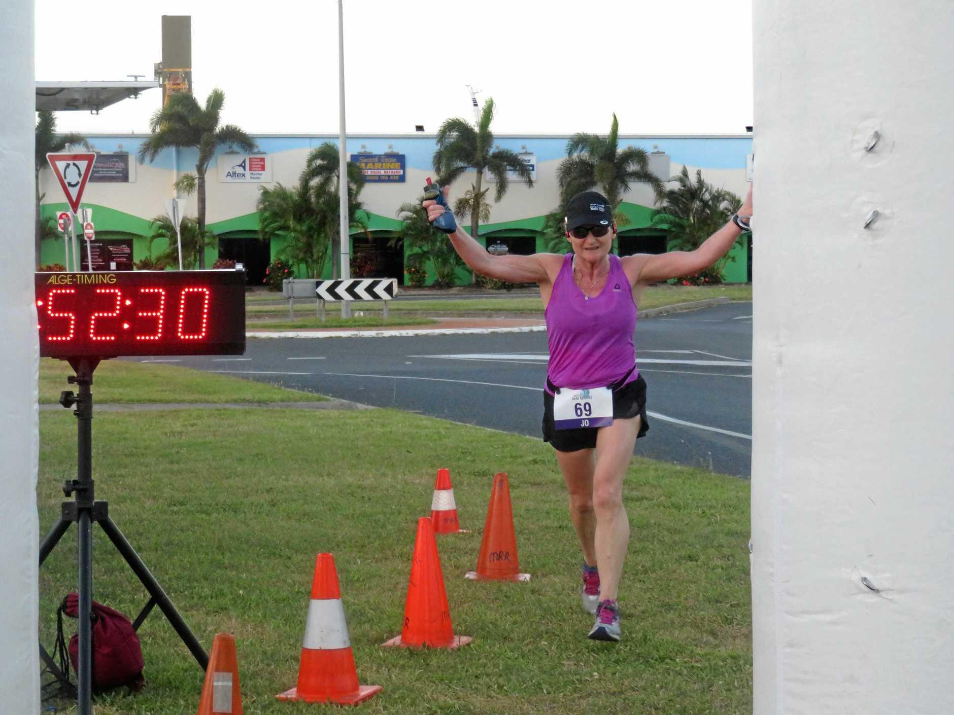 Jo Skinner in her 10km Martel Marina Sprint.