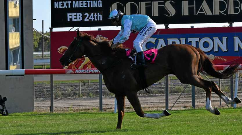 LOVES COFFS: Boncosta saluted in town again on Sunday.