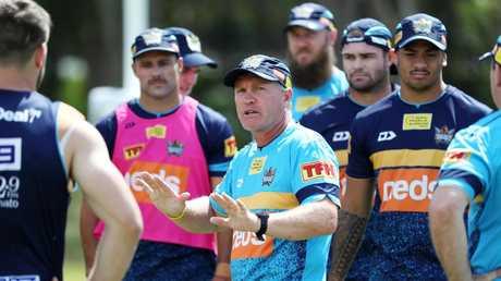 Garth Brennan has high hopes for Moeaki Fotuaika. Picture: Nigel Hallett