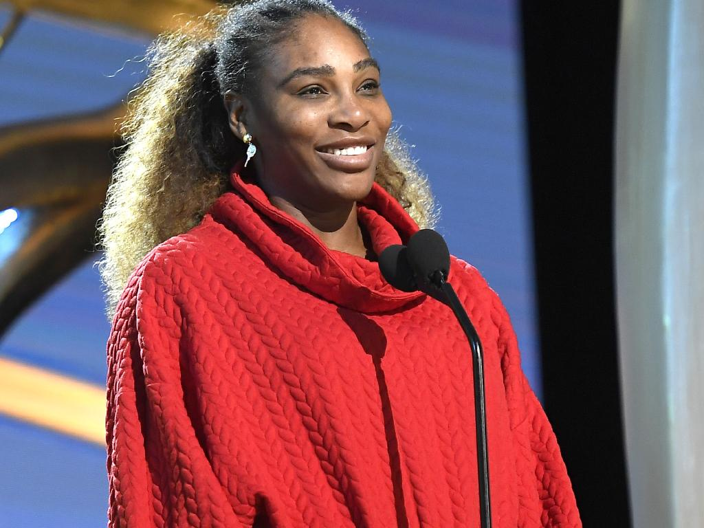 Presenter Serena Williams speaks during the 91st Annual Academy Awards rehearsals.