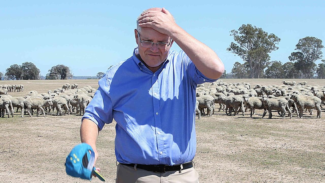 Today's Newspoll puts Scott Morrison in a losing position. Picture: Ian Currie