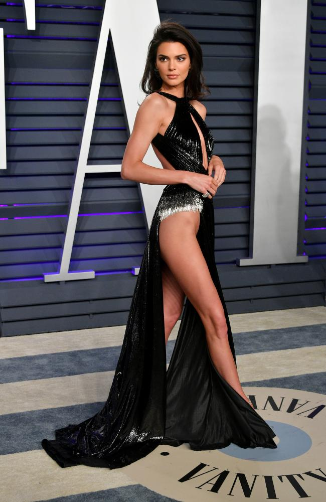 The supermodel risked a wardrobe malfunction as she walked down the red carpet. Picture: Dia Dipasupil/Getty Images
