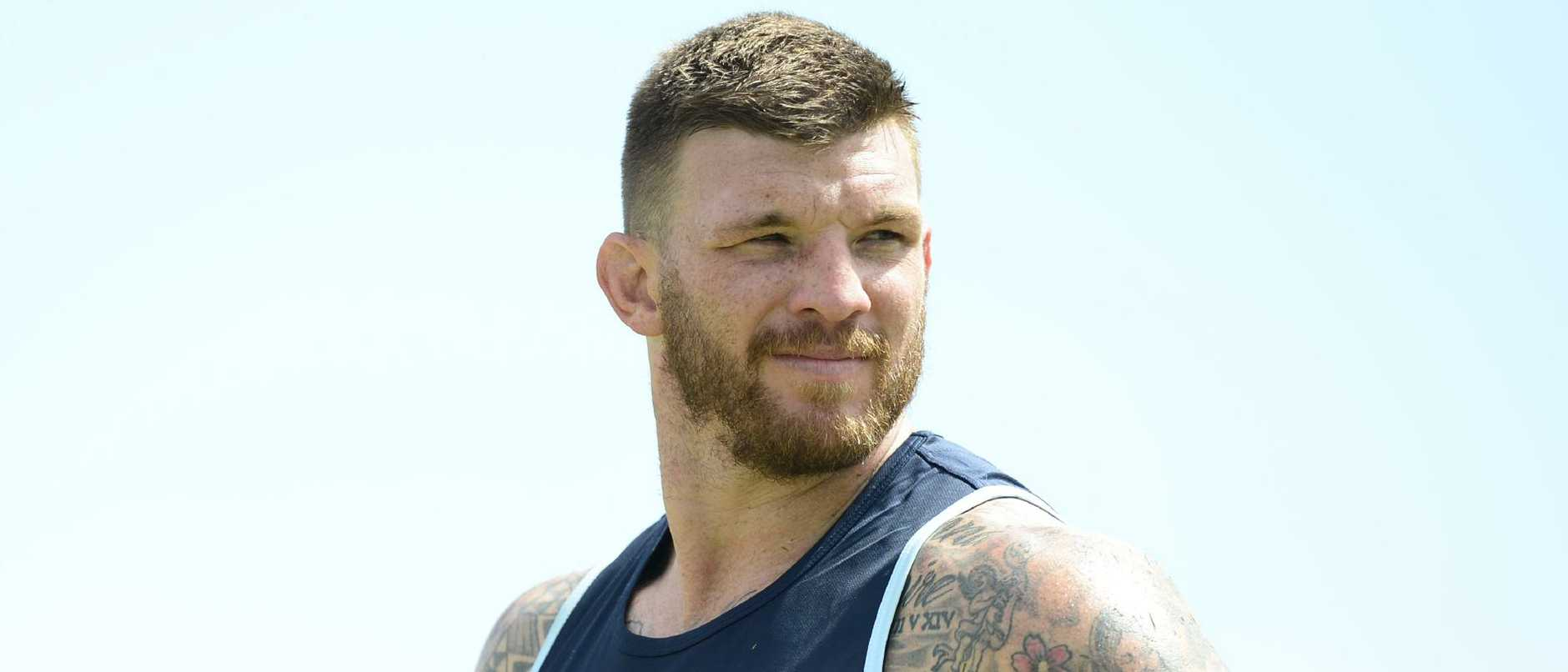North Queensland Cowboys training from 1300 Smiles Stadium. Josh McGuire. Picture: Zak Simmonds