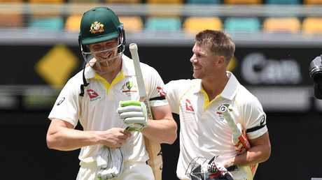 Could David Warner (R) and Cameron Bancroft be reunited at the top of the order? Picture: AAP