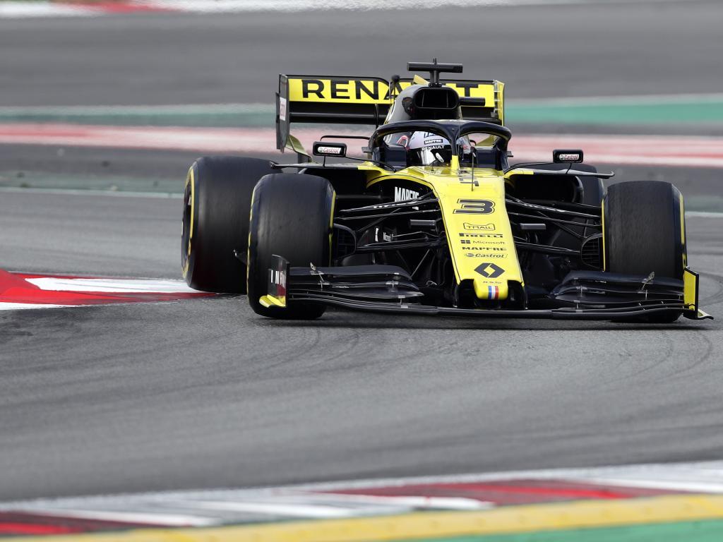 Ricciardo in his new Renault.
