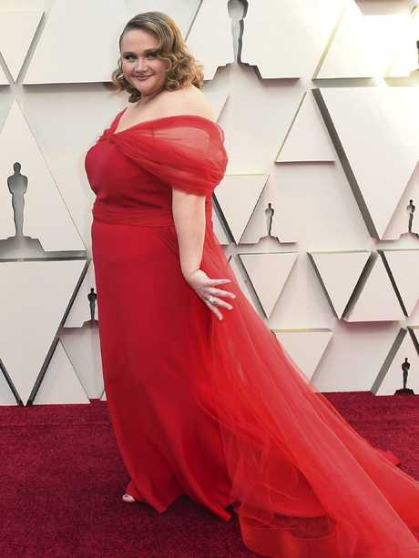 Danielle Macdonald arrives at the Oscars. Picture: AP