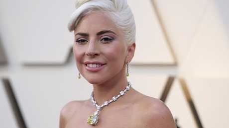 The singer-turned-actress wore the Tiffany necklace. Picture: Richard Shotwell/Invision/AP