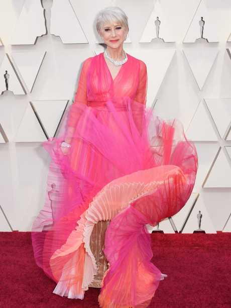 Oscar-winner Helen Mirren is pretty in pink. Picture: Getty Images