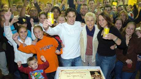A young Billy Slater celebrates his 21st birthday party at Garradunga in 2004.