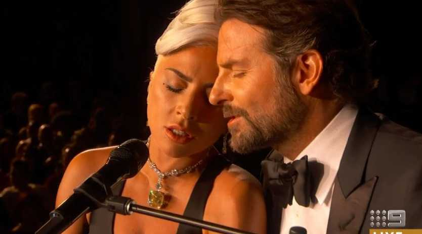 Lady Gaga and Bradley Cooper perform Shallow at the Oscars.
