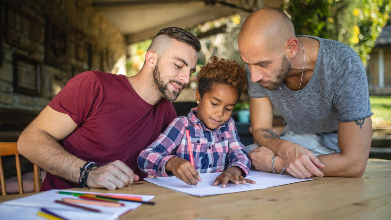 Two dads are always going to feel out of place at a Mother's Group but will feel differently about a Parents' Group. Generic picture: iStock