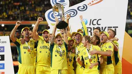 Channel 9 will also show Australia matches at the World Cup, where they are defending champions. Picture: Phil Hillyard