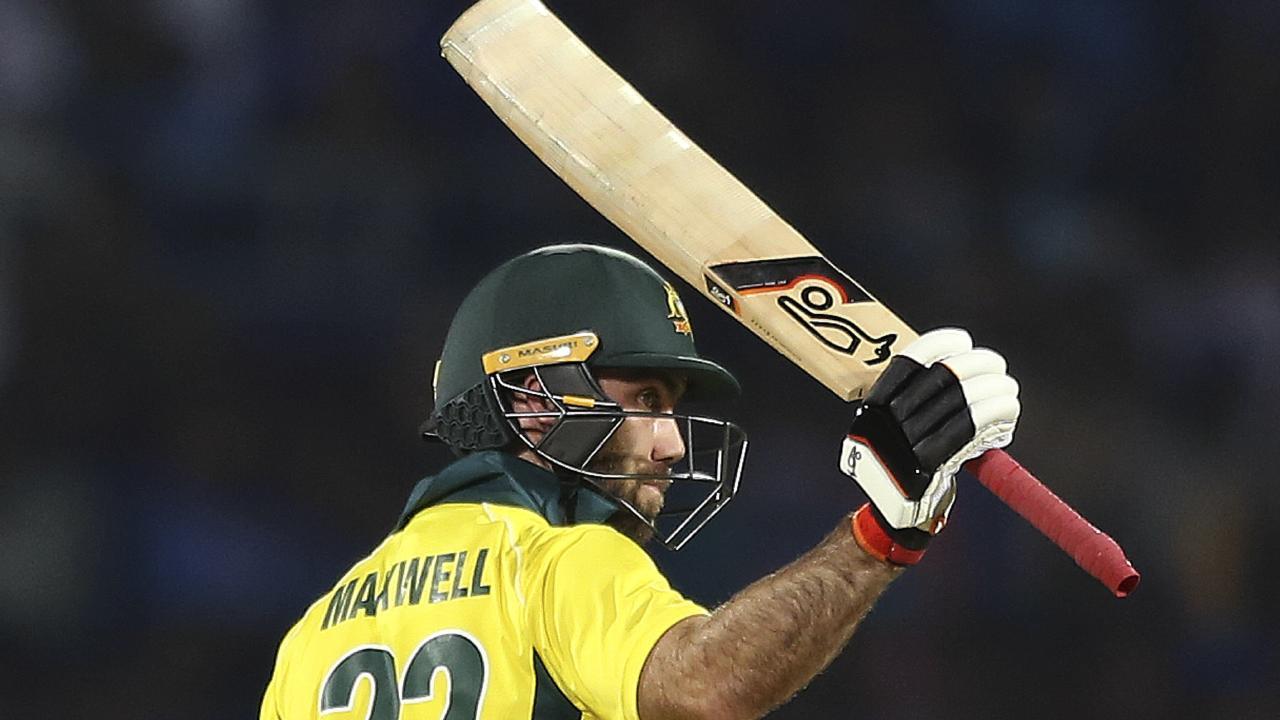 Glenn Maxwell scored almost half of Australia's runs.