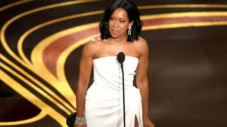 Regina King accepts the Actress in a Supporting Role award for If Beale Street Could Talk onstage during the 91st Annual Academy Awards.