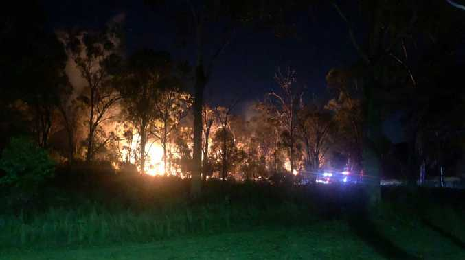 Firefighters are working to control a blaze near Dalrymple Dr.