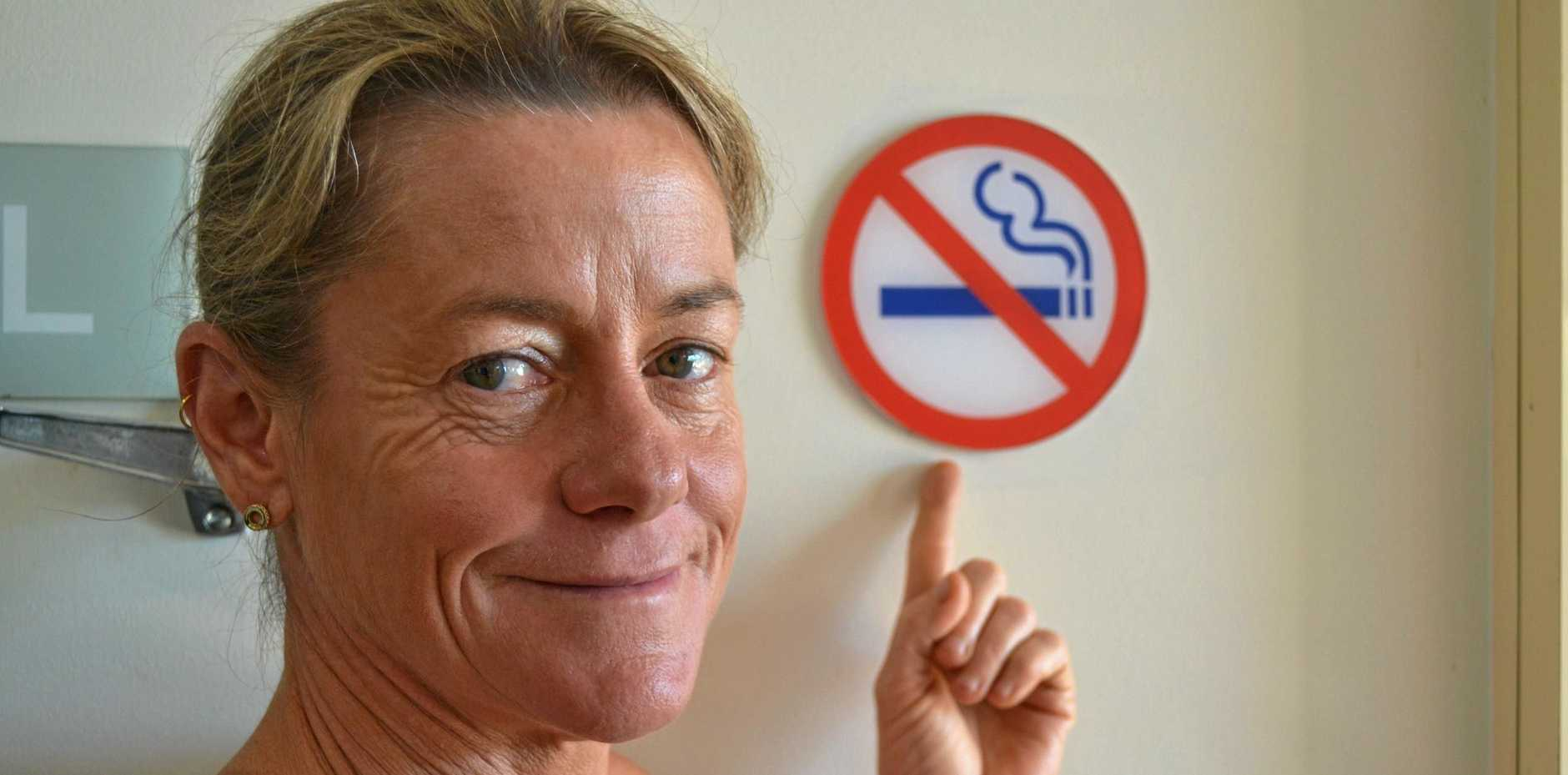 SMOKING TRIUMPH: Melissa Caletti successfully quit smoking after being a 50-a-day smoker for more than 20 years.