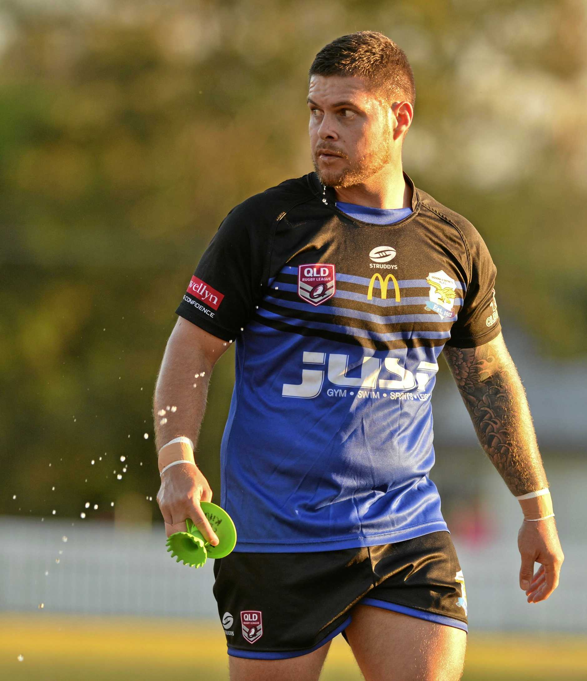 GUESS WHO'S BACK: Corey Kirk will take his football knowledge from the field to the dugout this season as Goodna's A-Grade coach.