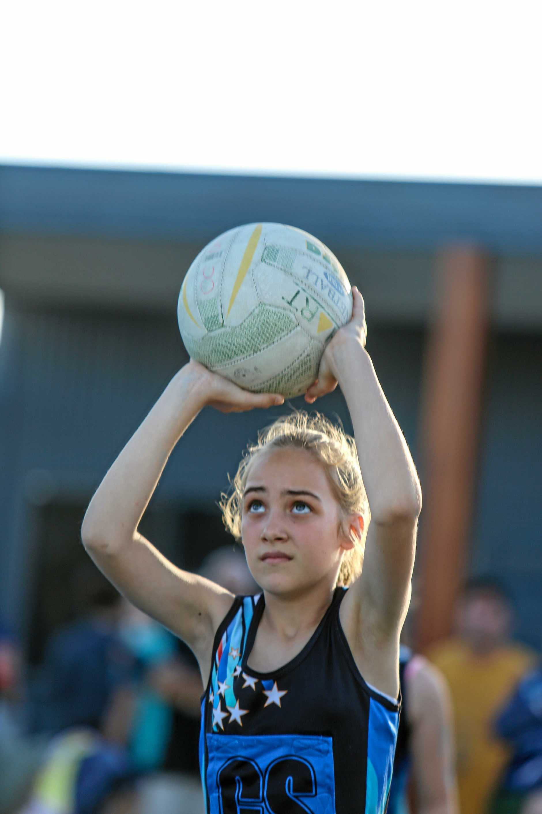 CRUCIAL: Hayley Stirrat lines up a shot for Miriam Vale Magic in the 11U decider back in 2017.