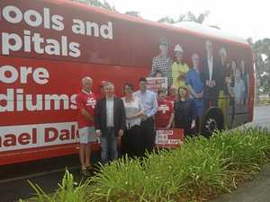 Labor's party bus rolls in to Grafton