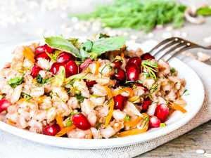 Add a visual punch with a pomegranate salad