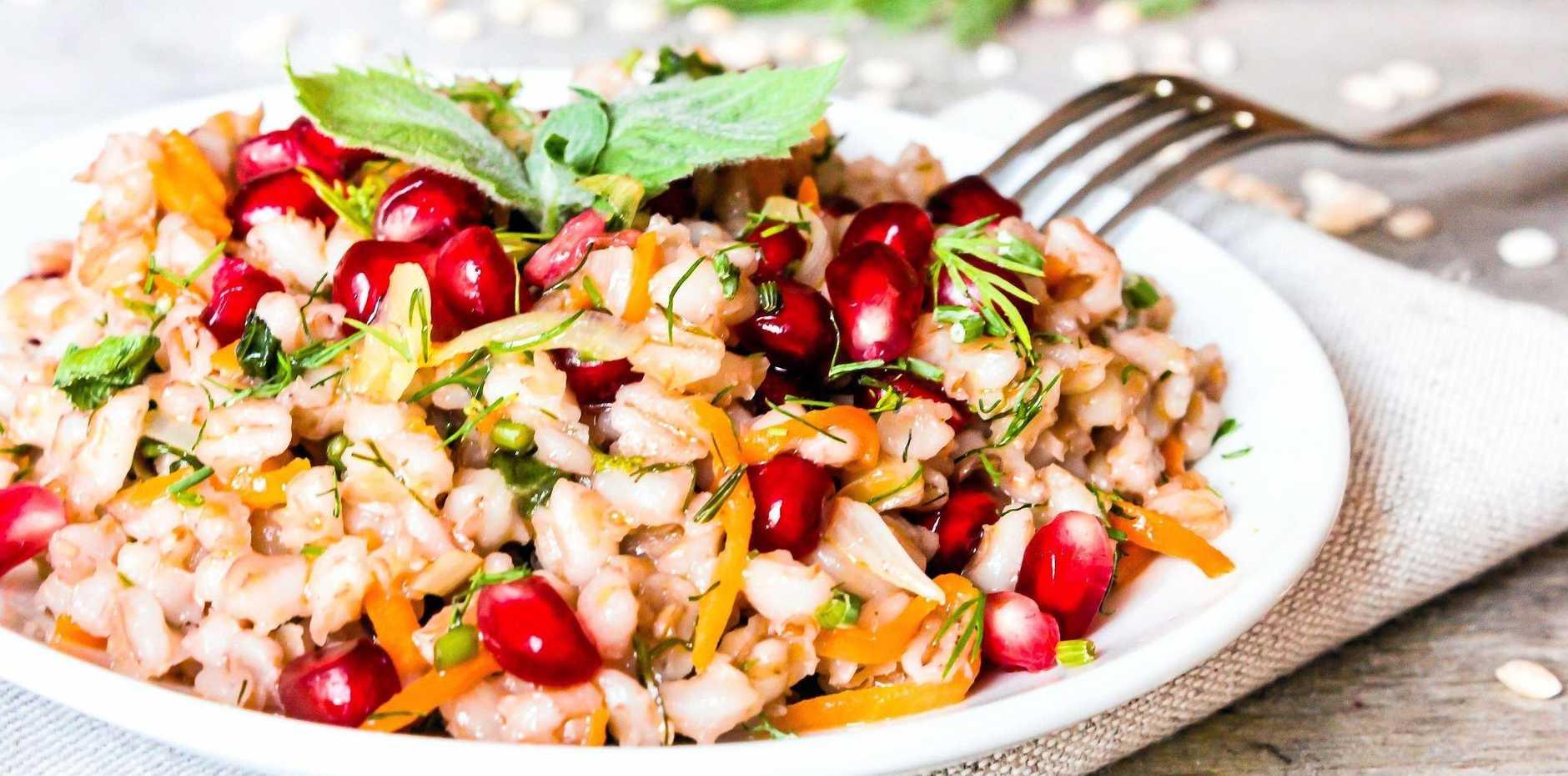 Maggie Cooper's barley pomegranate salad.