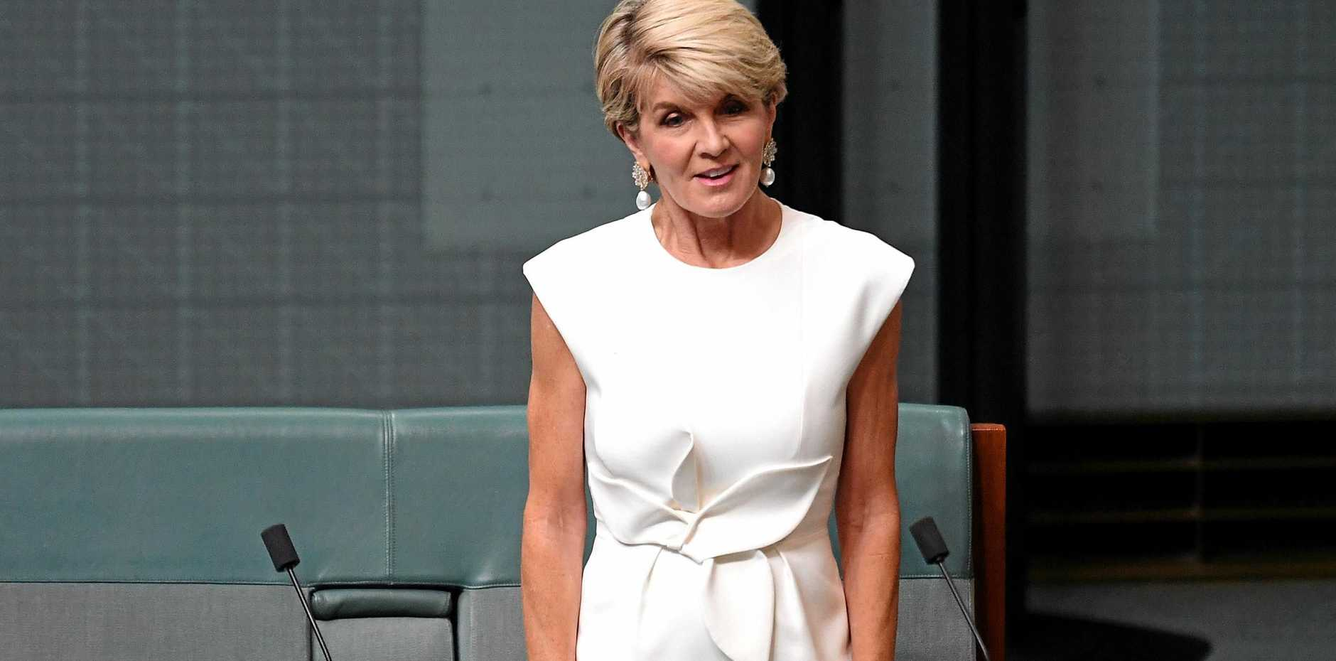 Member for Curtin Julie Bishop announces she will not be contesting the seat of Curtin in the upcoming 2019 Federal Election in the House of Representatives at Parliament House, in Canberra, Thursday, February 21, 2019. (AAP Image/Sam Mooy) NO ARCHIVING