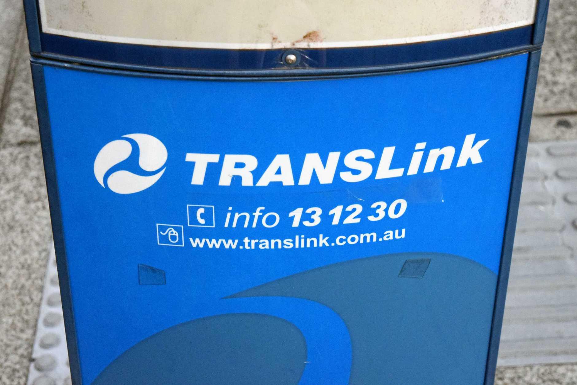 Translink bus stop in Brisbane.