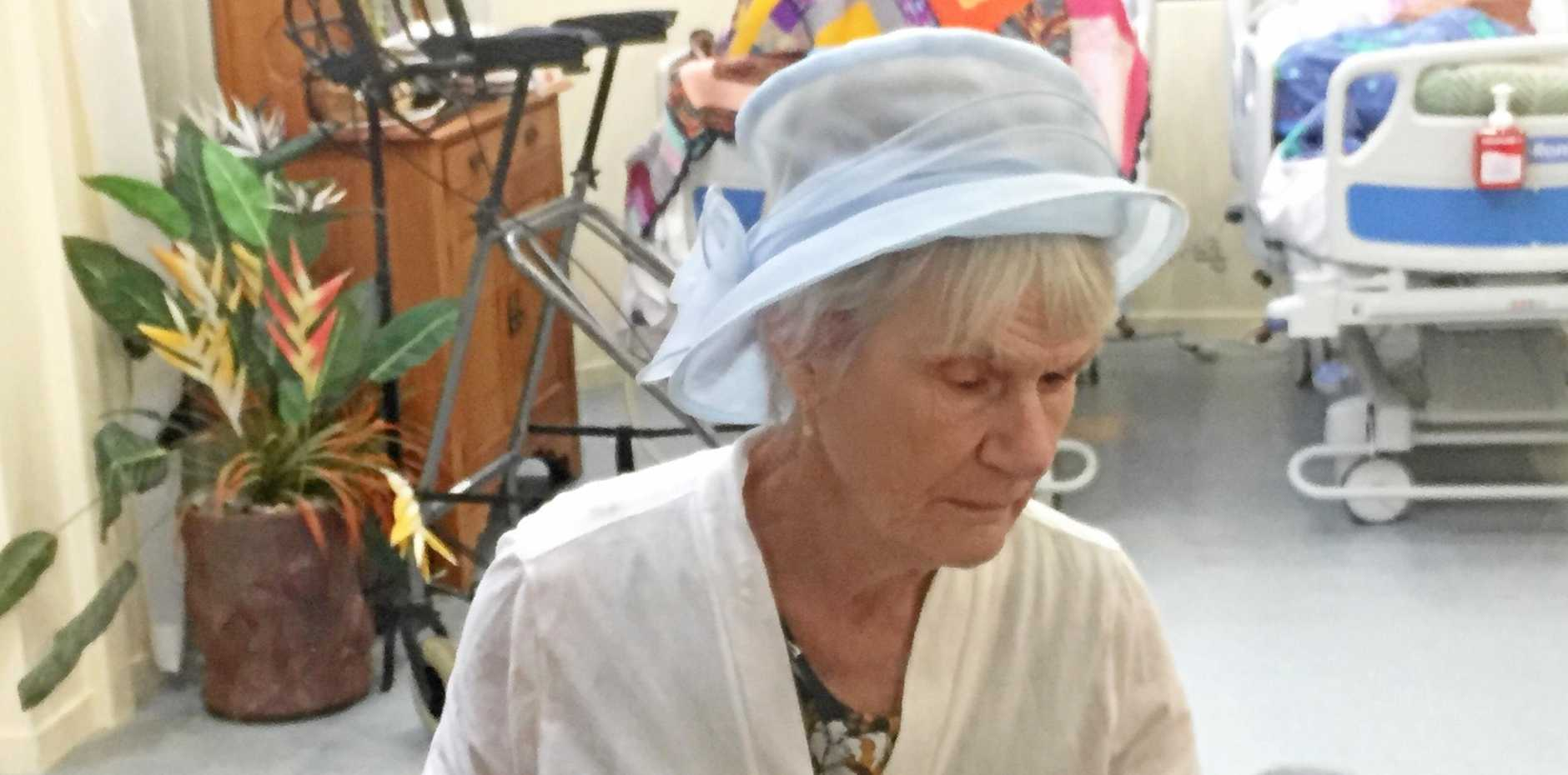 SING US A SONG: Desley Rennick's weekly visit to Mundubbera Hospital is eagerly anticipated.