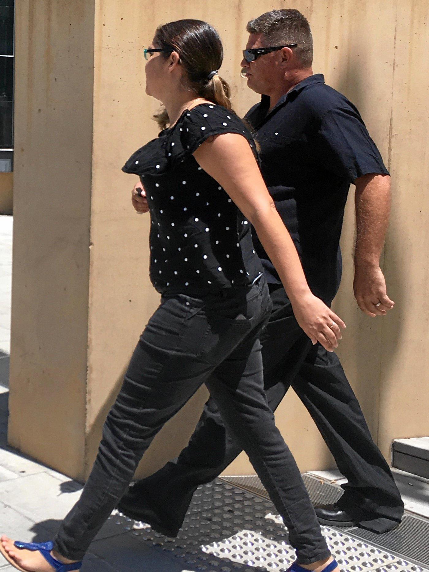 Matthew and Sarah Fallaize leave Ipswich court.