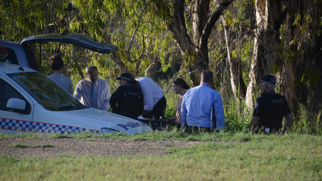 The bodies of two young boys have been found in the Ross River in Cranbrook near Cranbrook Park in Townsville following a desperate search. Picture: Keagan Elder