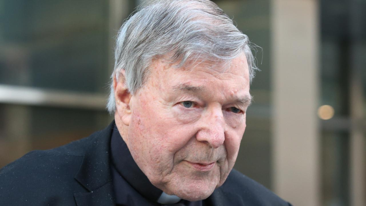 Cardinal George Pell is seen in Melbourne. Picture: David Crosling/AAP