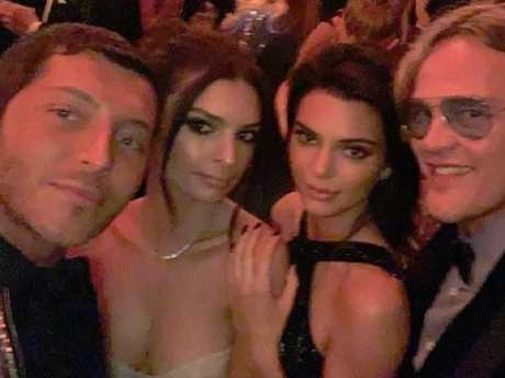 Kendall Jenner and Emily Ratajkowski hit the Vanity Fair party. Picture: Instagram