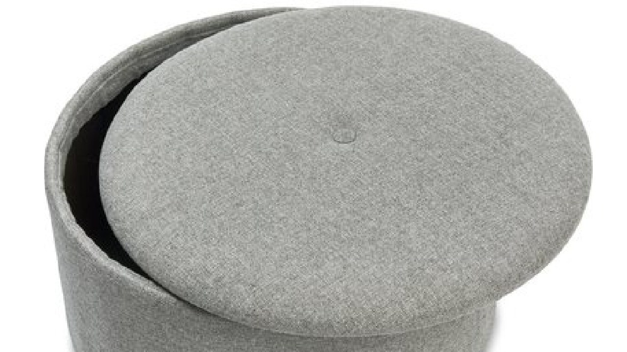 The footstool comes with in-built storage. Picture: Kmart