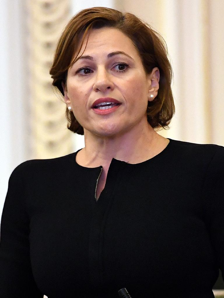 Treasurer Jackie Trad in Parliament yesterday