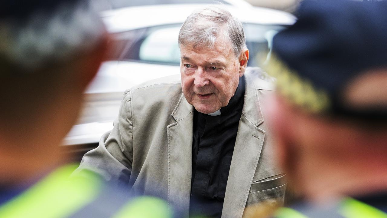 Cardinal George Pell arrives at County Court in Melbourne, Melbourne, Australia, Tuesday, February 26, 2019. Picture: AAP Image/Daniel Pockett.