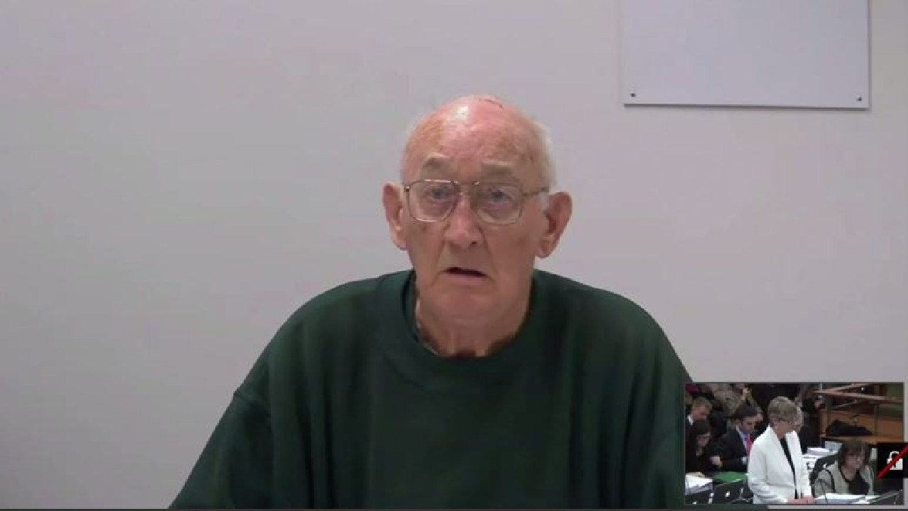 Screen grab from the Royal Commission Live hearing with priest Gerald Ridsdale in 2015.