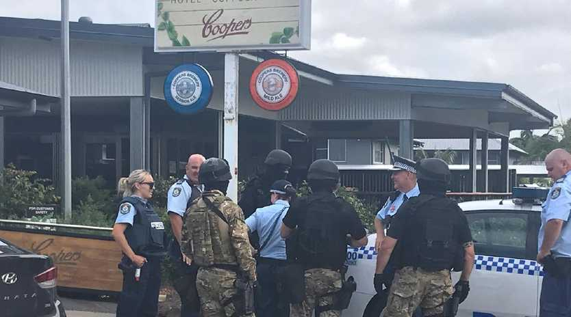 NSW police during a raid in Suffolk Park. Picture: Jane Hansen