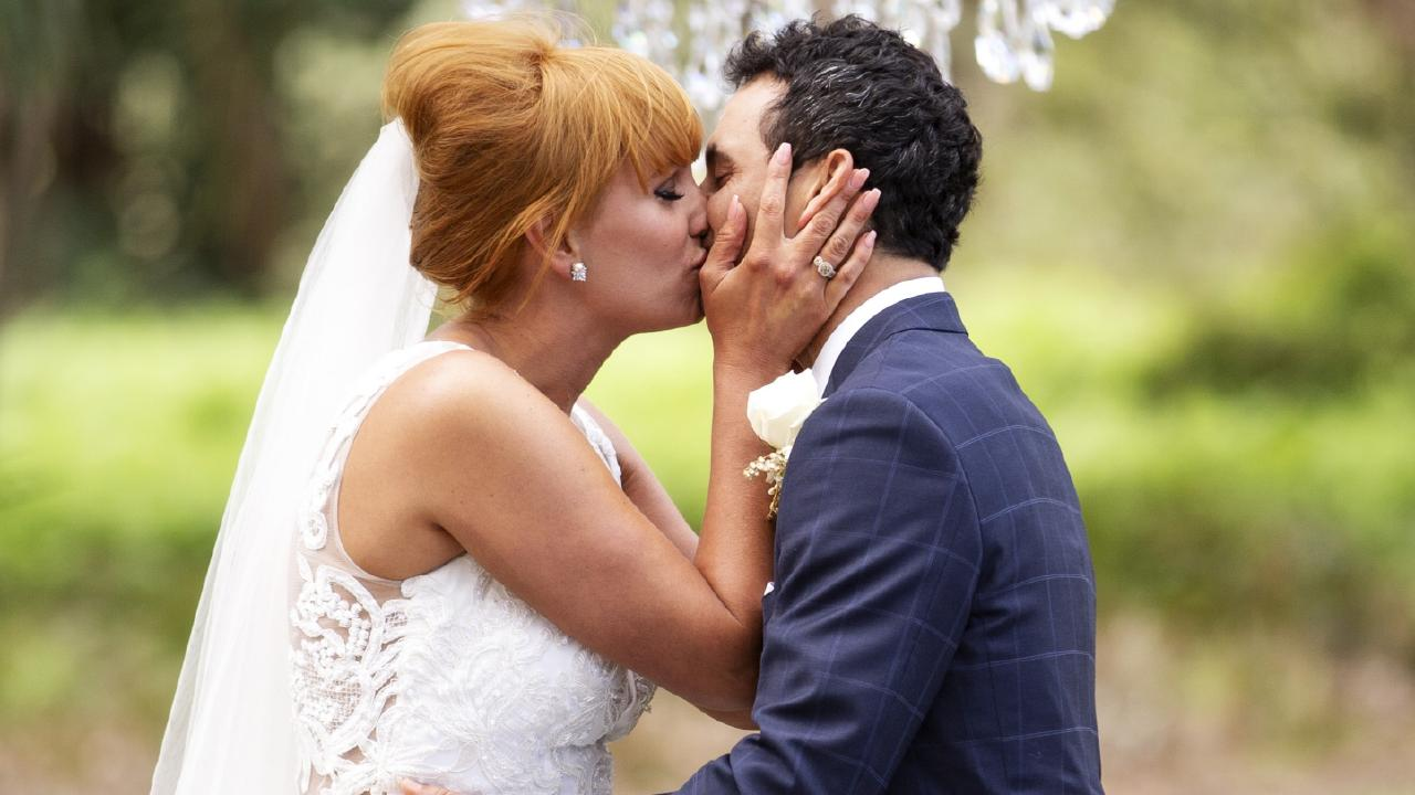 Cameron Merchant and Jules Robinson on Married At First Sight. Picture: Supplied