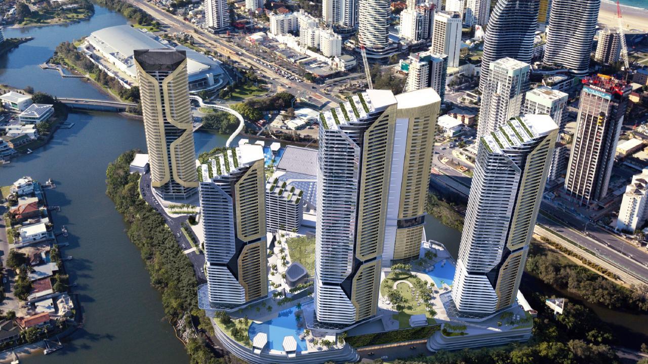 Artist impression of The Star Gold Coast's mega masterplan concept. Image: Supplied