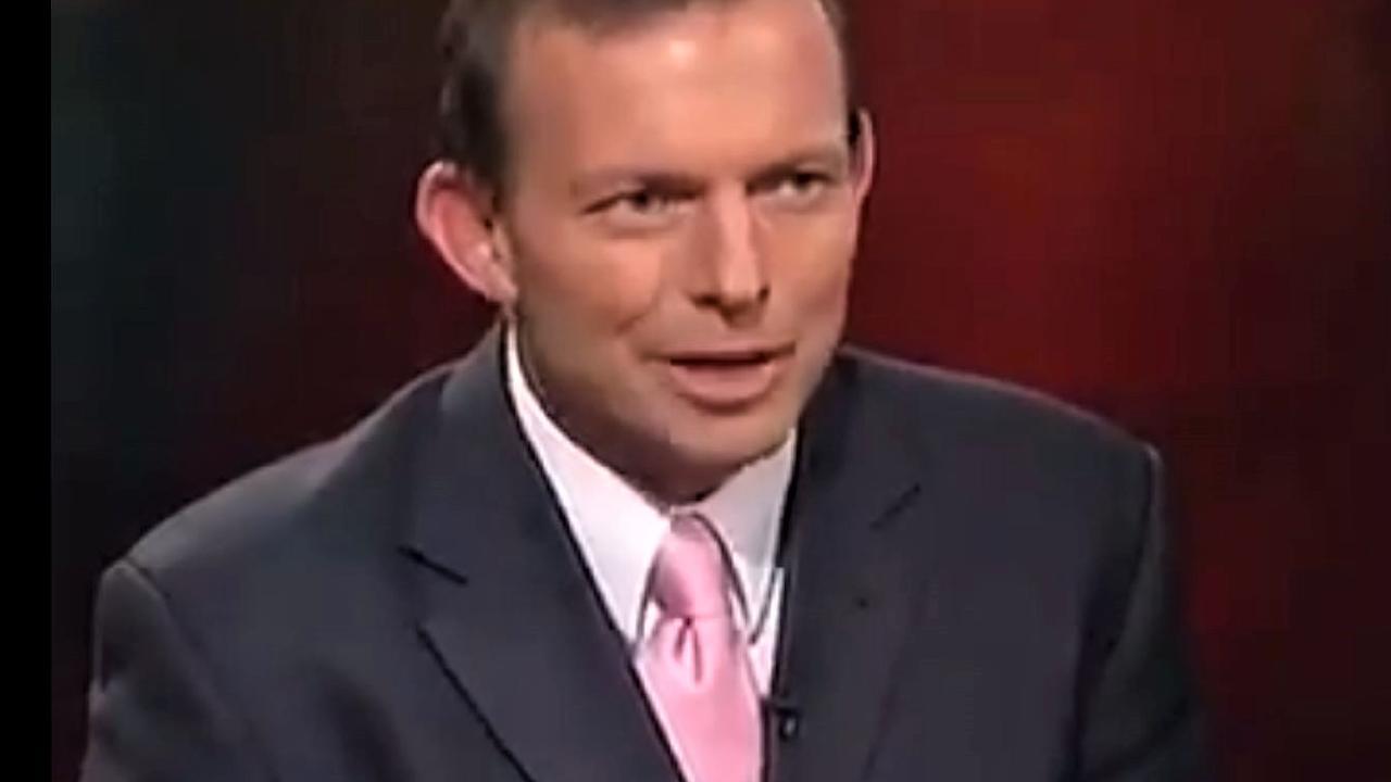 Tony Abbott on Lateline in 2004. Picture: ABC