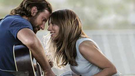Cooper and Lady Gaga played lovers in the movie. Picture: Warner Bros. via AP, File