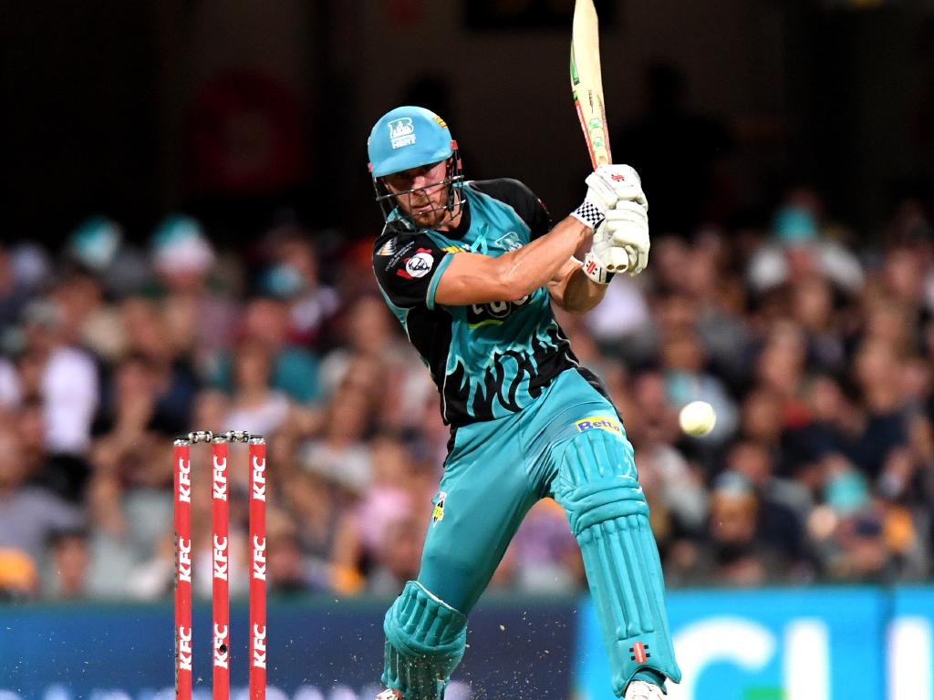 Chris Lynn goes big for the Brisbane Heat. Picture: Getty Images
