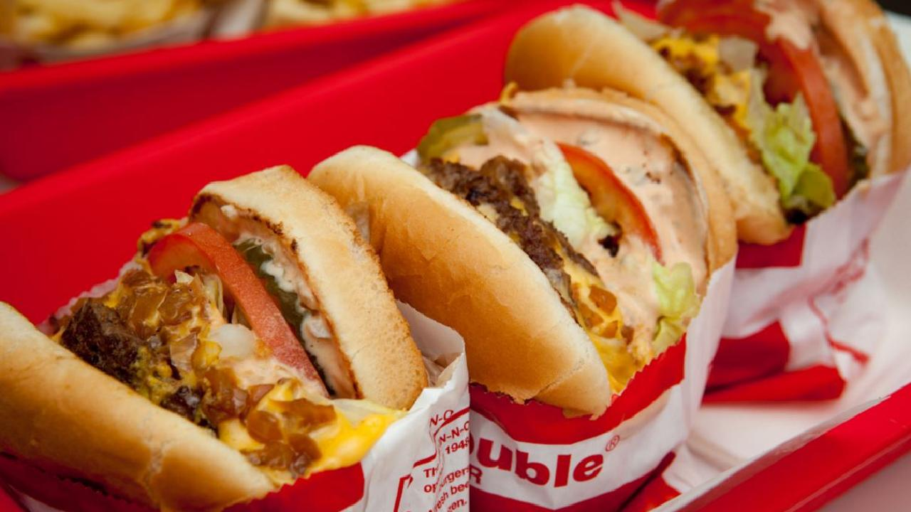In-N-Out is popular for their basic hamburger, regular cheeseburgers and the double-double (double meat, double cheese).