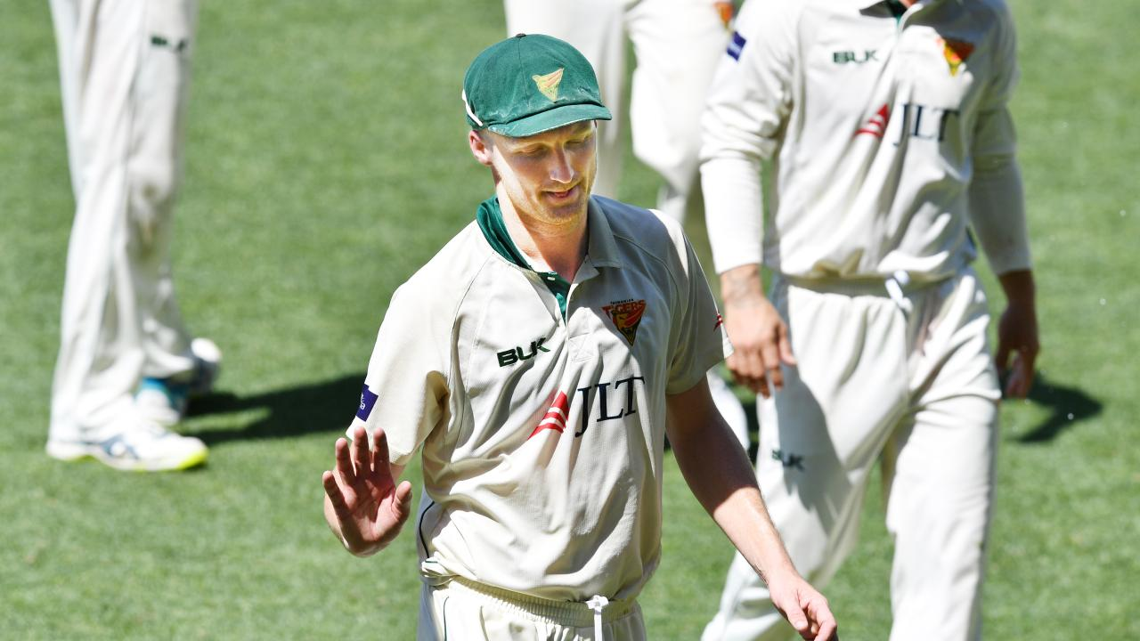 Bird walks off having snared 11 wickets for the match. Picture: AAP