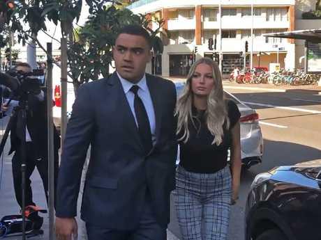 Walker and his partner arrived at court together.