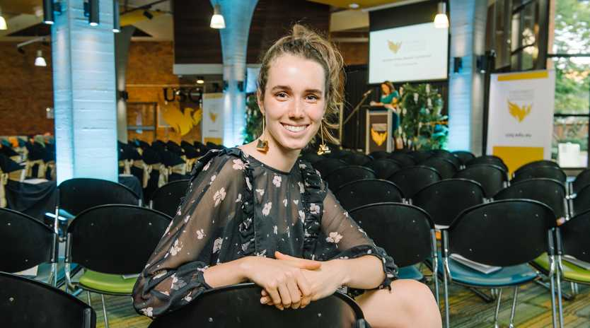 Creative Arts student Laurie Oxenford received the Bellmaine French Appreciation Travelling scholarship at USQ Scholarships Award Ceremony in Toowoomba last week.