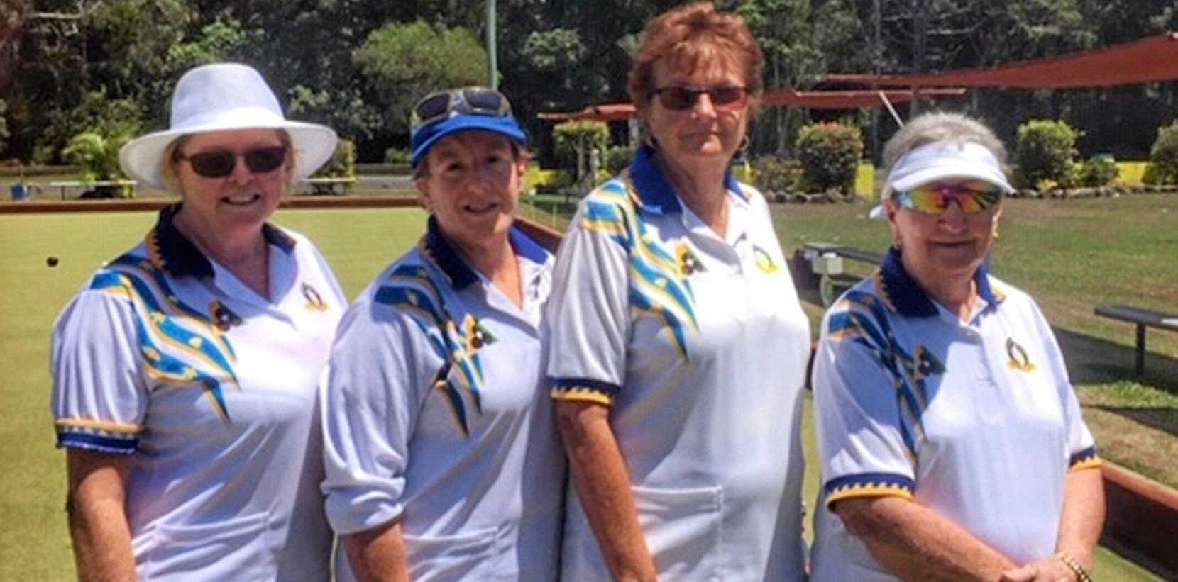 WINNERS: Brunswick Heads Women's Club Fours champions Jenny Andrew, Ilona Pettendy, Sherril Pearce and Lyn Proudlock.